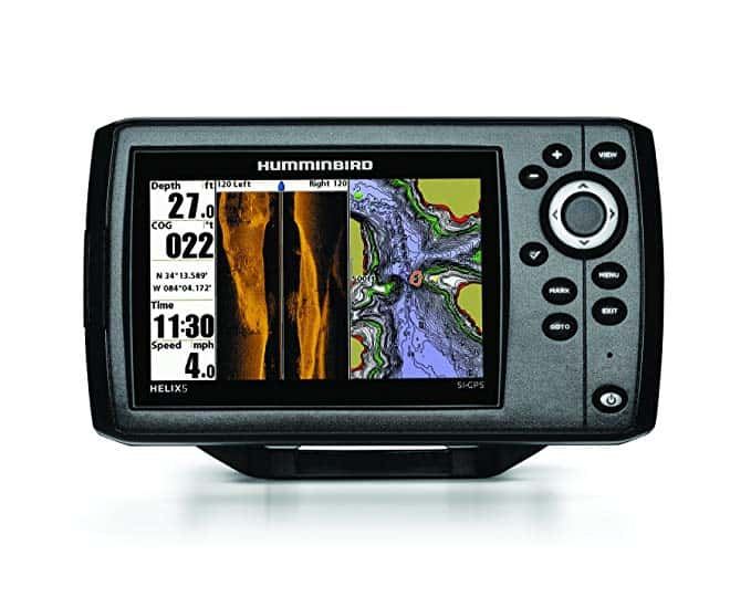 How to read Humminbird fish finder