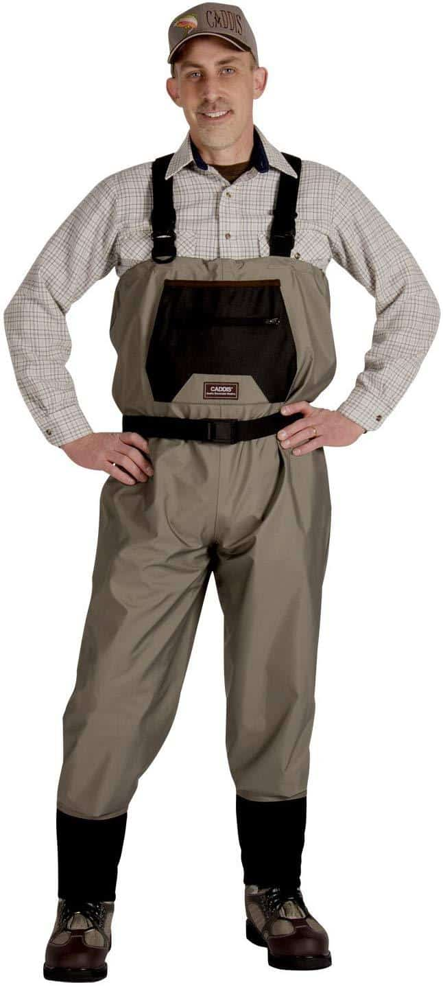 Taupe Stocking Foot Wader from Caddis Wading System for fly fishing