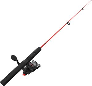 Beginner Fishing Rod and Spinning Reel Combo by Zebco
