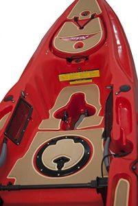 Deck padding for kayaks