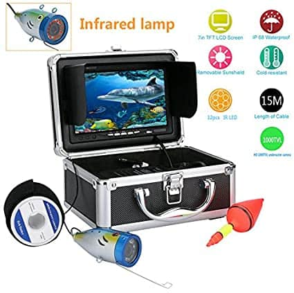 "7"" Video Camera for Underwater Fishing by Gamwater"