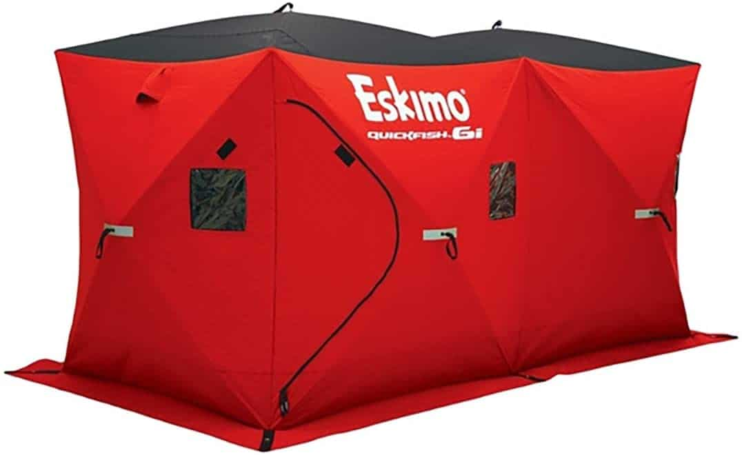 Portable Shelter for Ice Fishing by Eskimo