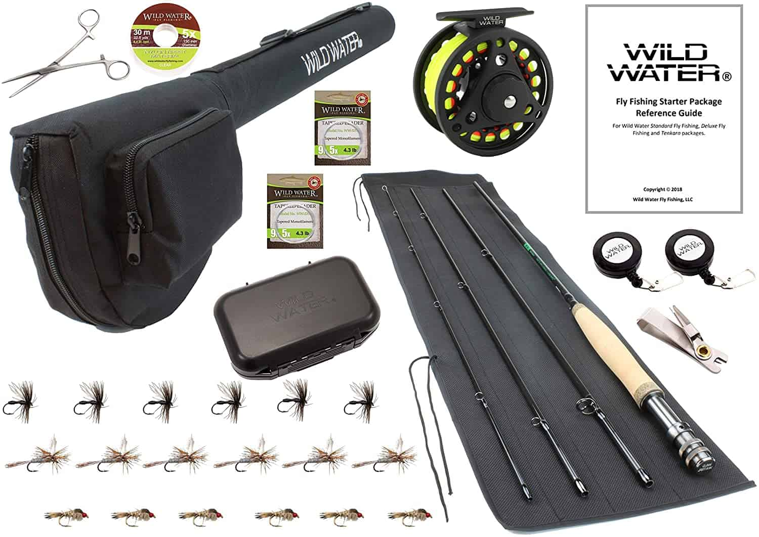 Deluxe Fly fishing Rod Starter Set by Wild Water