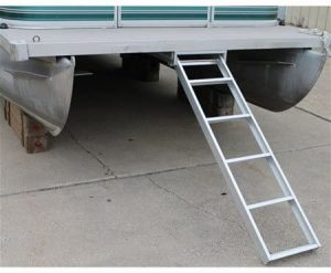 Five-Step Extra Long Self Storing Ladder Pontoon Boat