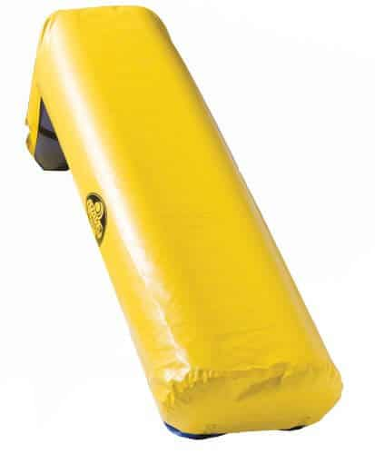 Pontoon boat slide yellow
