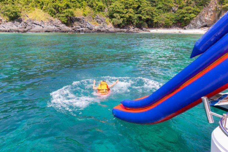 best pontoon boat slides