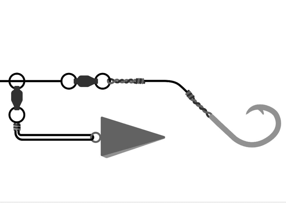 Shark rigs for surf fishing