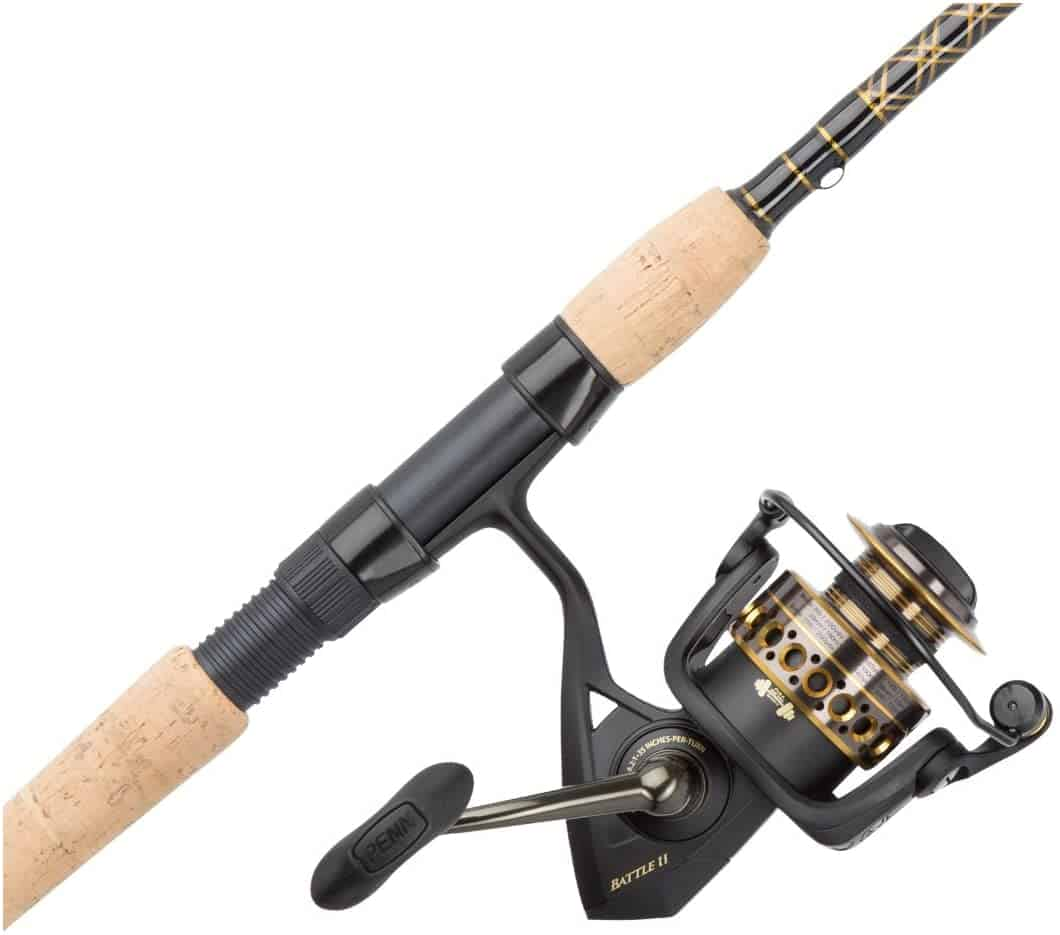 Spinning Reel and Rod by Penn Battle II & Battle III