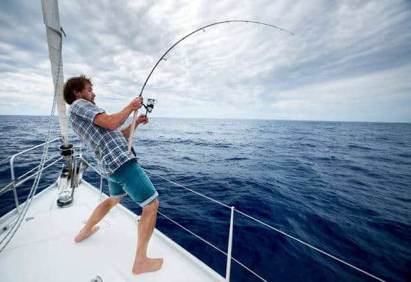 Offshore fishing on the deepsea