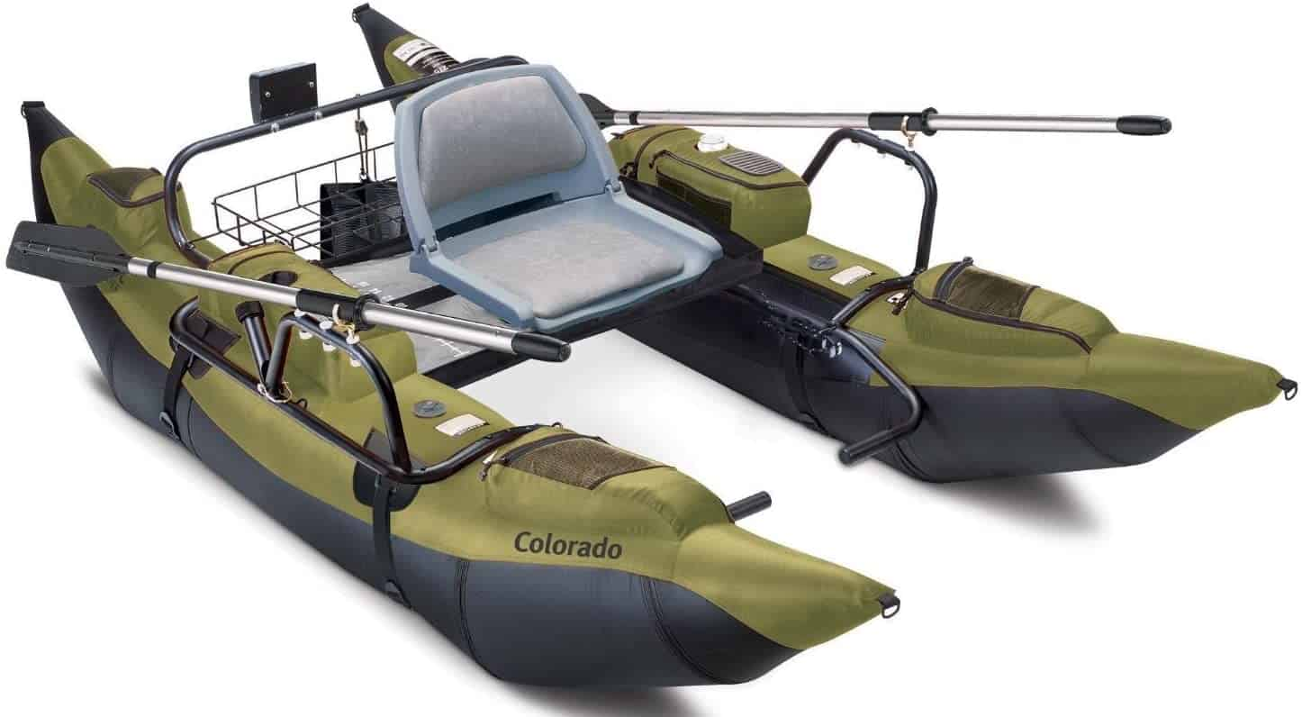 Colorado Inflatable Fishing Pontoon Boat by Classic Accessories