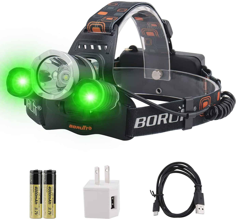 Green LED Fishing Headlamp by Boruit