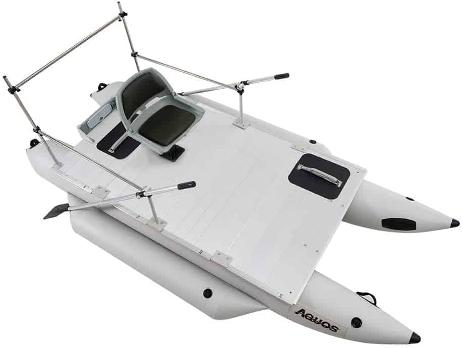 Heavy-Duty Inflatable Pontoon Boat by Aquos