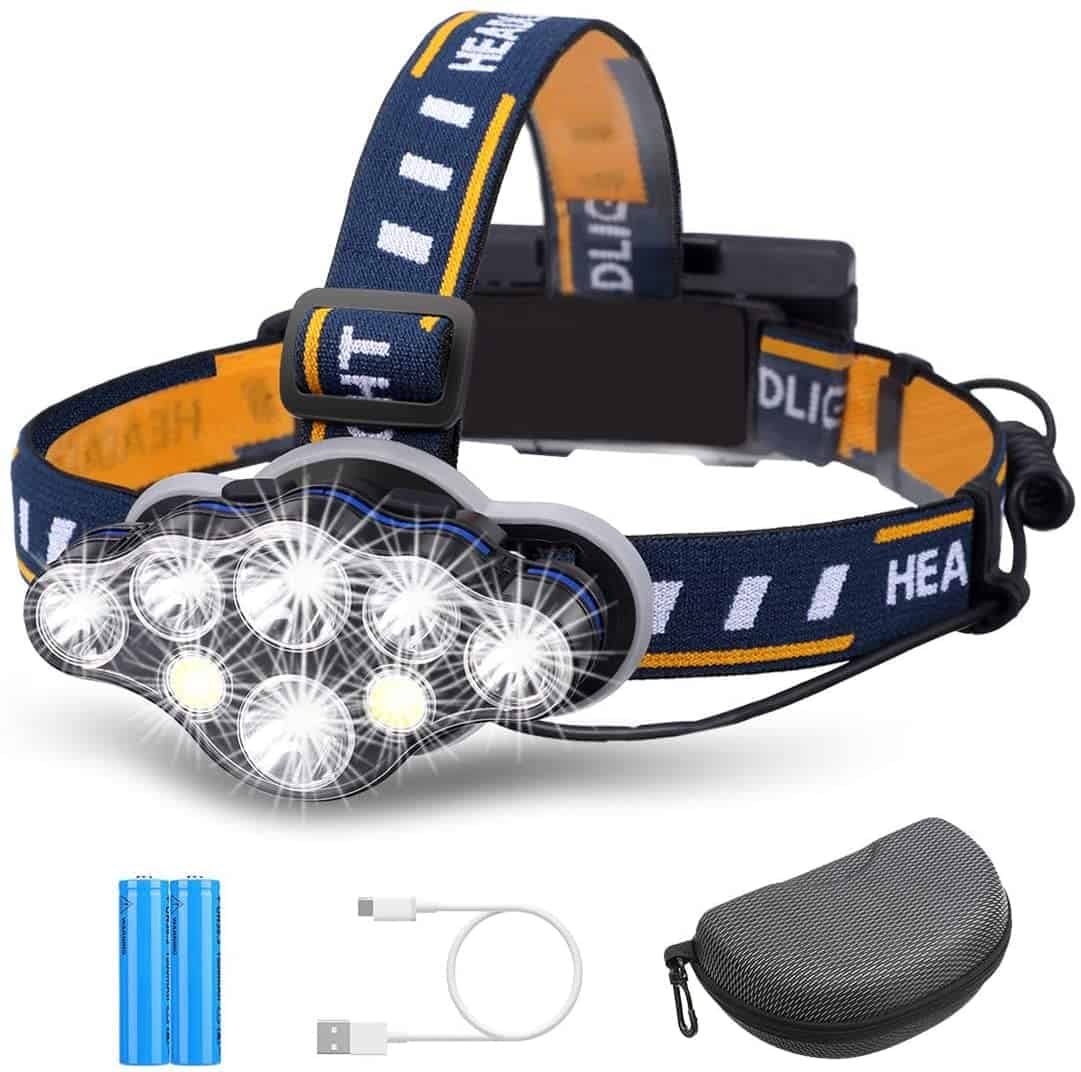 Rechargeable Fishing Headlamp by Outerdo