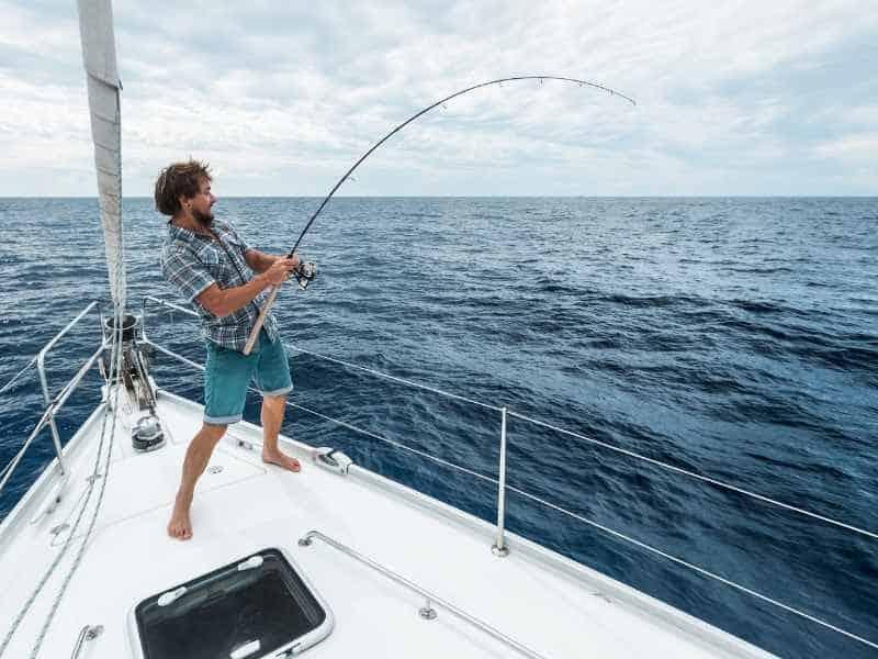 wet fishing line